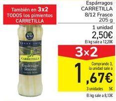 Oferta de Espárragos CARRETILLA 8/12 por 2,5€
