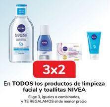 Oferta de En TODOS los productos de limpieza facial y toallitas NIVEA por