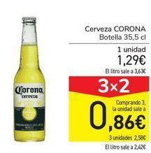Oferta de Cerveza CORONA  por 1,29€