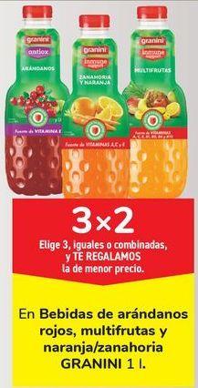 Oferta de En bebidas de arándanos rojos, multifrutas y naranjas/zanahoria GRANINI por