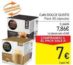 Oferta de Café DOLCE GUSTO por 7,86€