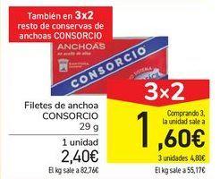Oferta de Filetes de anchoa CONSORCIO por 2,4€