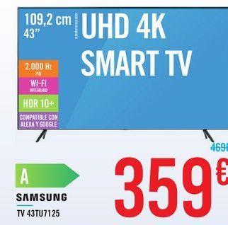 Oferta de TV 43TU7125 SAMSUNG  por 359€