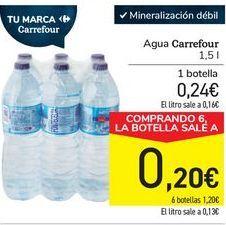 Oferta de Agua Carrefour  por 0,24€