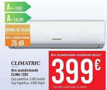 Oferta de Aire acondicionado CLIMA-12DC CLIMATRIC por 399€