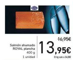 Oferta de Salmón ahumado ROYAL plancha por 13,95€