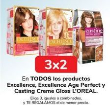 Oferta de En TODOS los productos Excellence, Excellence Age Perfect y Casting Creme Gloss L'OREAL por