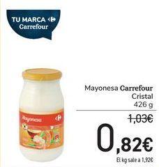 Oferta de Mayonesa Carrefour Cristal por 0,82€