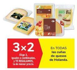 Oferta de En TODAS las cuñas de quesos de Holanda por
