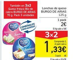 Oferta de Lonchas de queso BURGO DE ARIAS por 2€