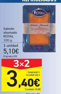 Oferta de Salmón ahumado ROYAL por 5,1€