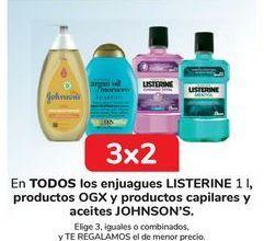 Oferta de En TODOS los enjuagues LISTERINE, productos OGX y prductos capilares y aceites JOHNSON'S  por