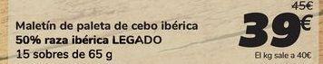 Oferta de Maletín de paleta de cebo ibérica 50% raza ibérica LEGADO por 39€