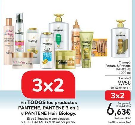 Oferta de En TODOS los productos PANTENE, PANTENE 3 en 1 y PATENE Hair Biology  por