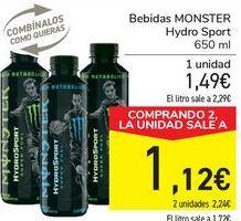 Oferta de Bebidas MONSTER Hydro Sport  por 1,49€