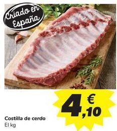 Oferta de Costilla de cerdo por 4,1€