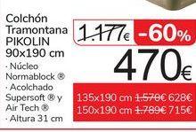 Oferta de Colchón Tramontana PIKOLIN por 470€