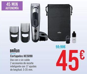 Oferta de Cortapelos GC5090 Braun  por 45€