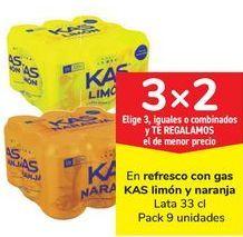 Oferta de En regrescos con gas KAS Limón y naranja  por