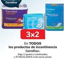 Oferta de En TODOS los productos de incontinencia Carrefour por