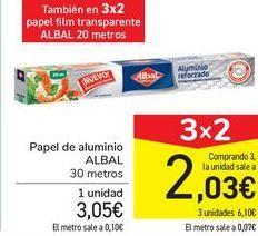Oferta de Papel de aluminio ALBAL por 3,05€