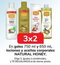 Oferta de En geles y lociones y aceites corporales NATURAL HONEY por