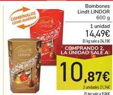 Oferta de Bombones Lindt LINDOR por 14,49€