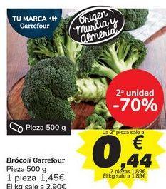 Oferta de Brócoli Carrefour por 1,45€