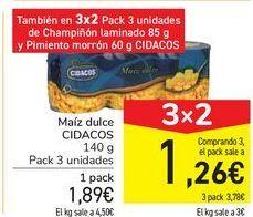 Oferta de Maíz dulce CIDACOS por 1,89€