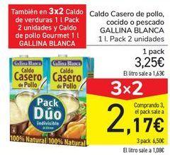Oferta de Caldo casero de pollo, cocido o pescado GALLINA BLANCA por 3,25€
