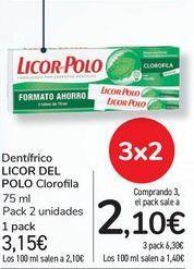 Oferta de Dentífrico LICOR DEL POLO Clorofila por 3,15€