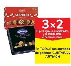Oferta de En TODOS los surtidos de galletas CUÉTARA y ARTIACH por