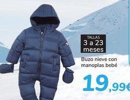 Oferta de Buzo nieve con manoplas bebé  por 19,99€