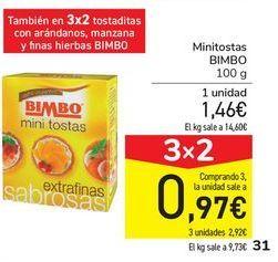 Oferta de Minitostas BIMBO por 1,46€