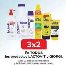 Oferta de En TODOS los productos LACTOVIT y GIORGI  por