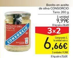 Oferta de Bonito en aceite de oliva CONSORCIO por 9,99€