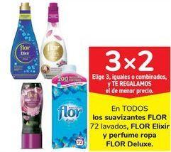 Oferta de En TODOS los suavizantes FLOR, Flor Elixir y perfume ropa FLOR Deluxe por