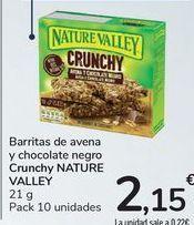Oferta de Barritas de avena y chocolate negro Crunchy NATURA VALLEY por 2,15€