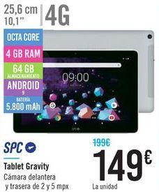 Oferta de Tablet Gravity SPC  por 149€