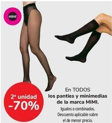 Oferta de En TODOS los panties y minimedias de la marca MINI  por