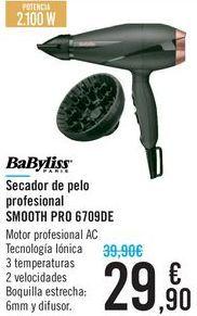 Oferta de Secador de pelo prefesional SMOOTH PRO 6709DE por 29,9€