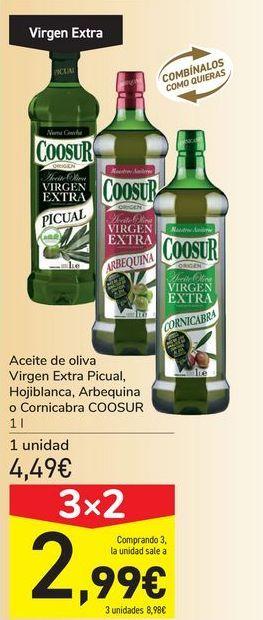 Oferta de Aceite de oliva Virgen Extra Picual, Hojiblanca, Arbequina o Cornicabra COOSUR por 4,49€