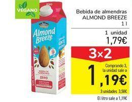 Oferta de Bebida de almendras ALMOND BREEZE por 1,79€