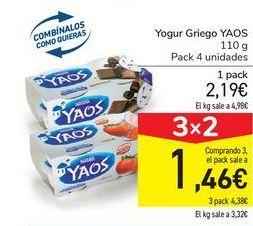 Oferta de Yogur Griego YAOS por 2,19€