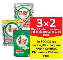 Oferta de En TODOS los lavavajillas máquina FAIRY Original, Platinum Plus  por