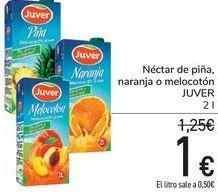 Oferta de Néctar de piña, naranja o melocotón JUVER por 1€