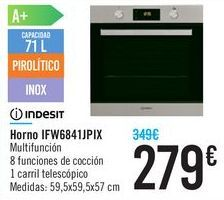 Oferta de Horno IFW6841JPIX Indesit  por 279€