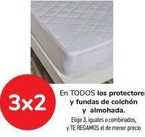 Oferta de En TODOS los protectores y fundas de colchón y almohada  por
