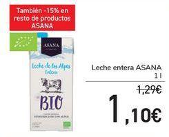 Oferta de Leche entera ASANA por 1,1€