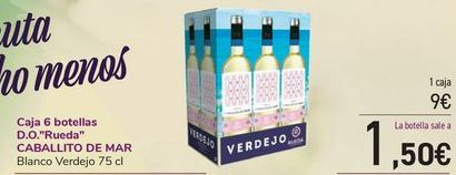 Oferta de Caja 6 botellas D.O. Rueda CABALLITO DE MAR por 9€